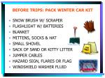before trips pack winter car kit