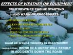 effects of weather on equipment
