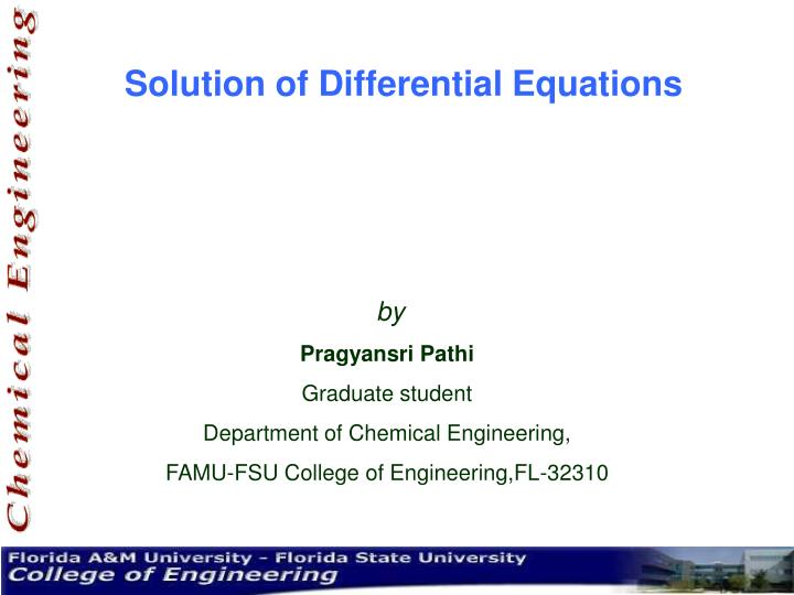 solution of differential equations n.