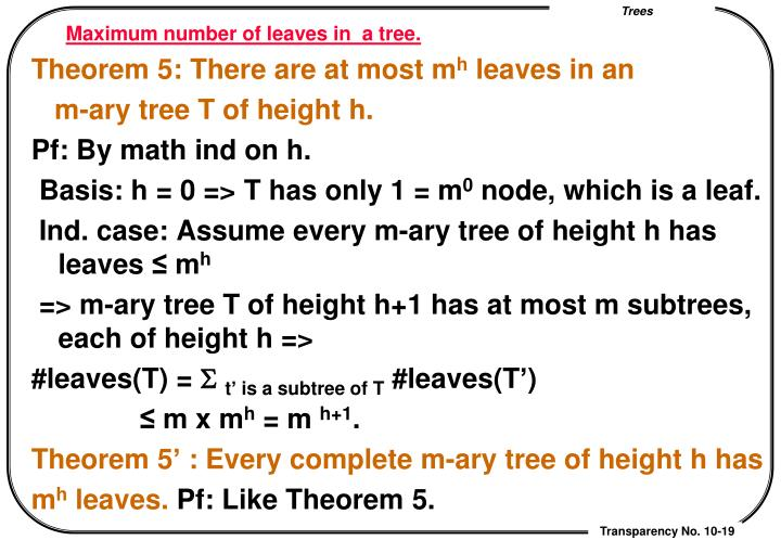 Maximum number of leaves in  a tree.