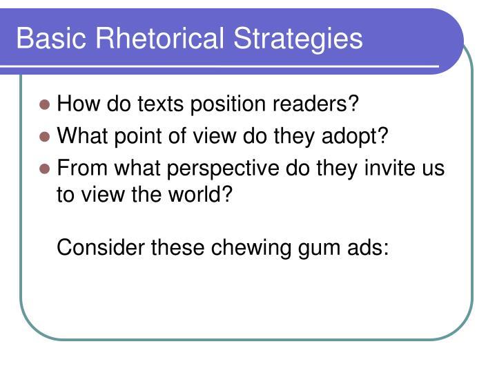 Basic Rhetorical Strategies