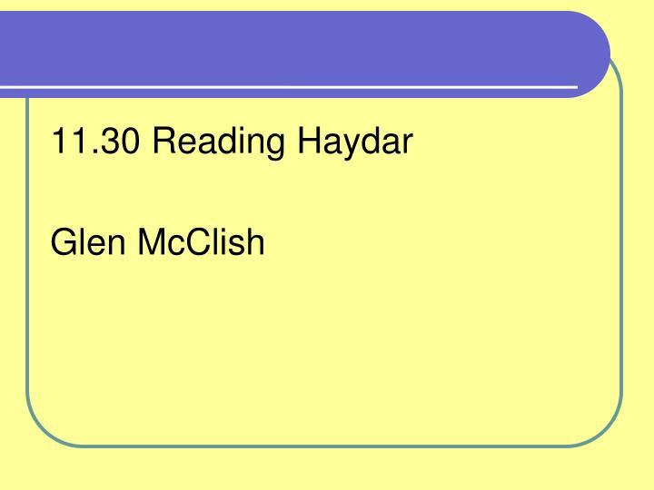 11.30 Reading