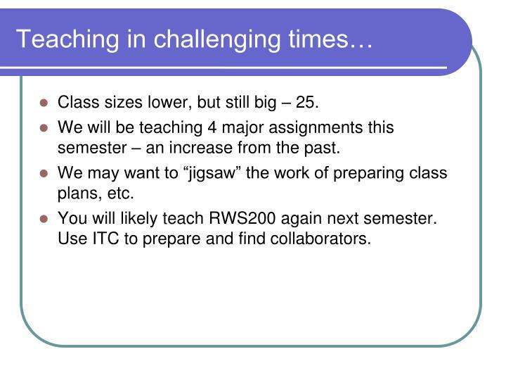 Teaching in