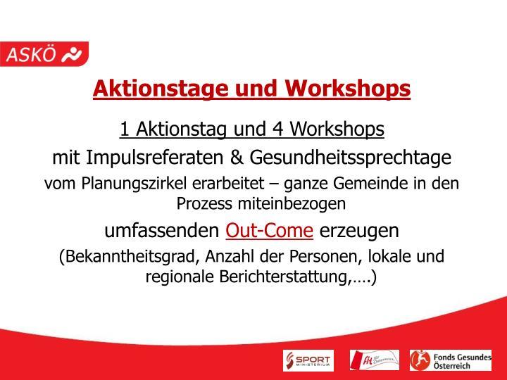 Aktionstage und Workshops