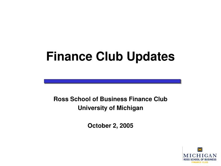 finance club updates n.