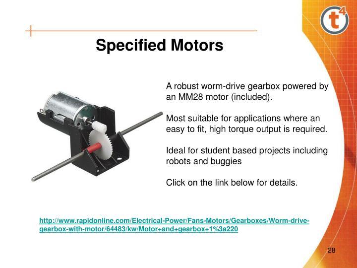 Specified Motors