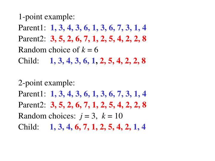 1-point example: