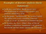 examples of literary analysis thesis statements