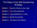 the steps of the self questioning strategy3