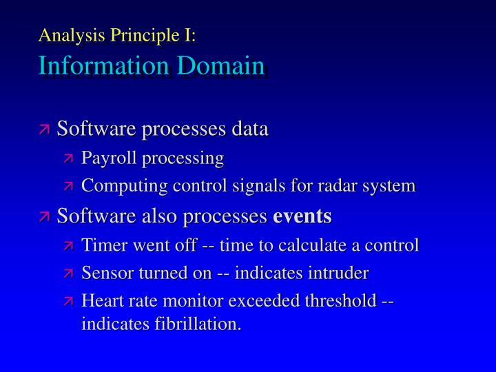 Analysis Principle I: