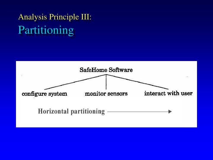 Analysis Principle III: