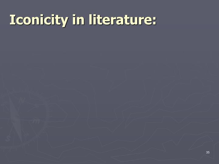 Iconicity in literature:
