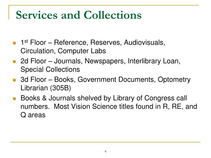 Services and Collections