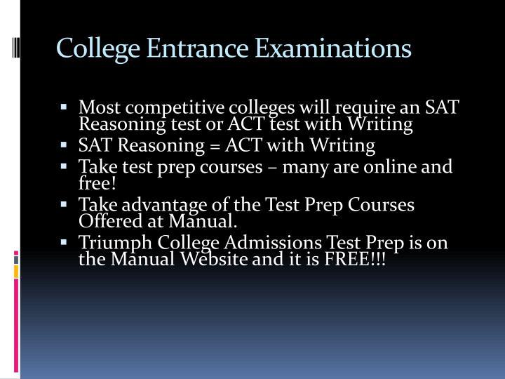 College Entrance Examinations