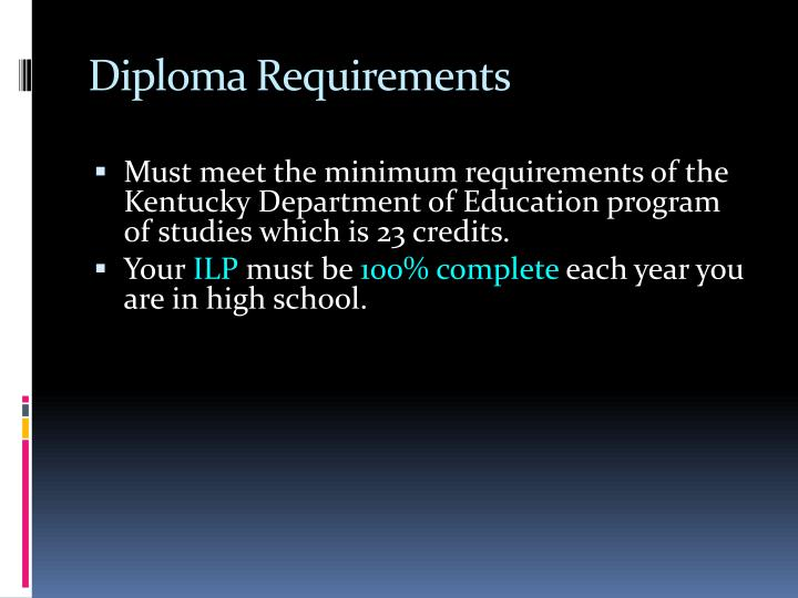 Diploma Requirements