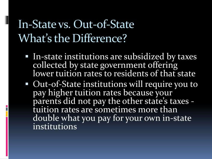 In-State vs. Out-of-State