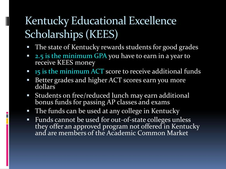 Kentucky Educational Excellence Scholarships (KEES)