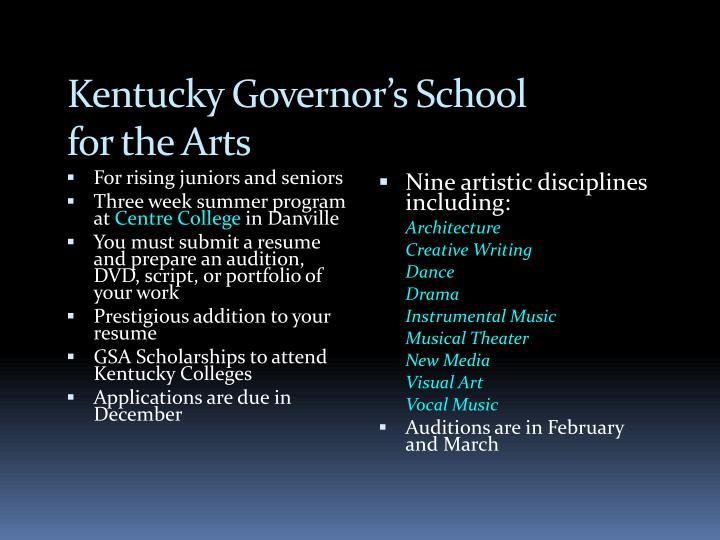 Kentucky Governor's School