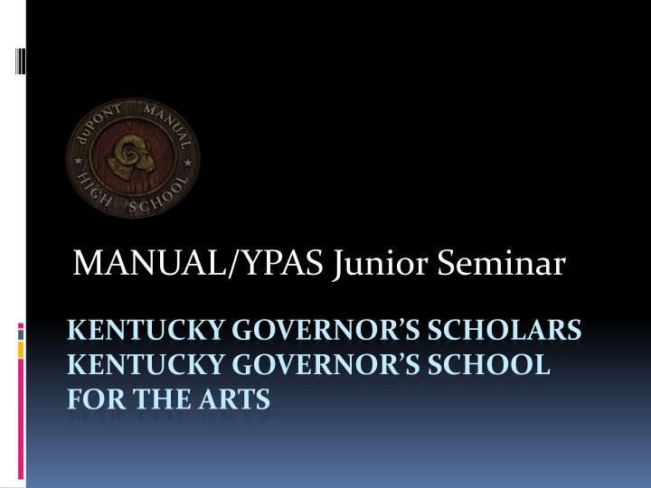 MANUAL/YPAS Junior Seminar