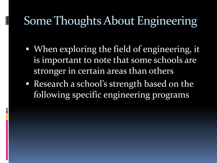 Some Thoughts About Engineering