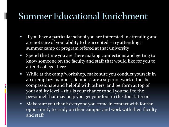 Summer Educational Enrichment
