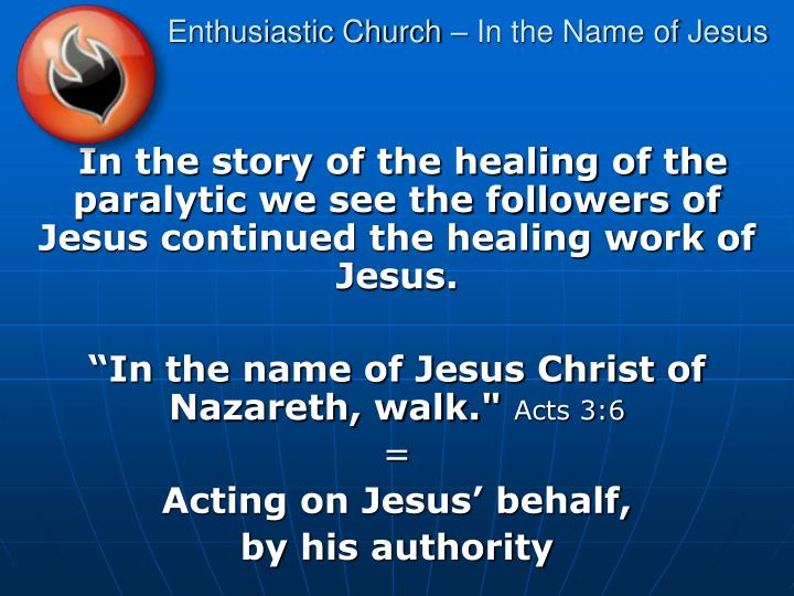 enthusiastic church in the name of jesus n.
