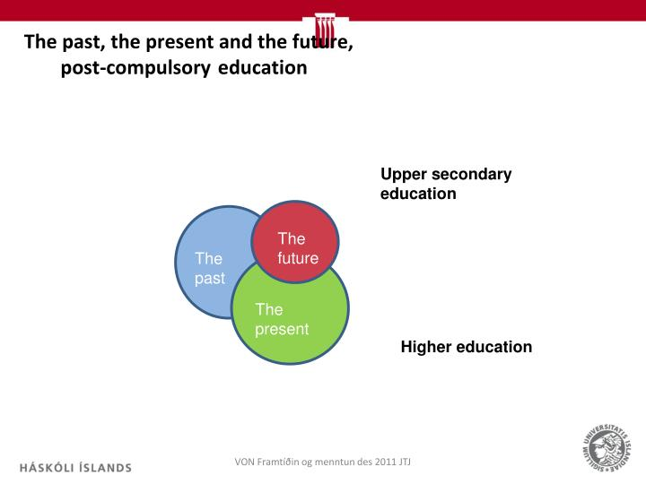 The past, the present and the future, post-compulsoryeducation