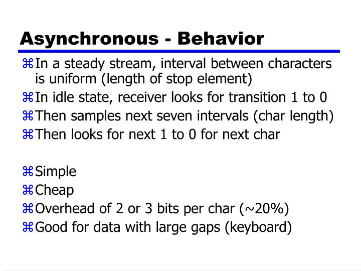 Asynchronous - Behavior