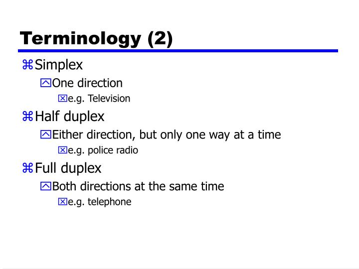 Terminology (2)