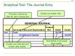 analytical tool the journal entry2