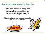 balancing the accounting equation1