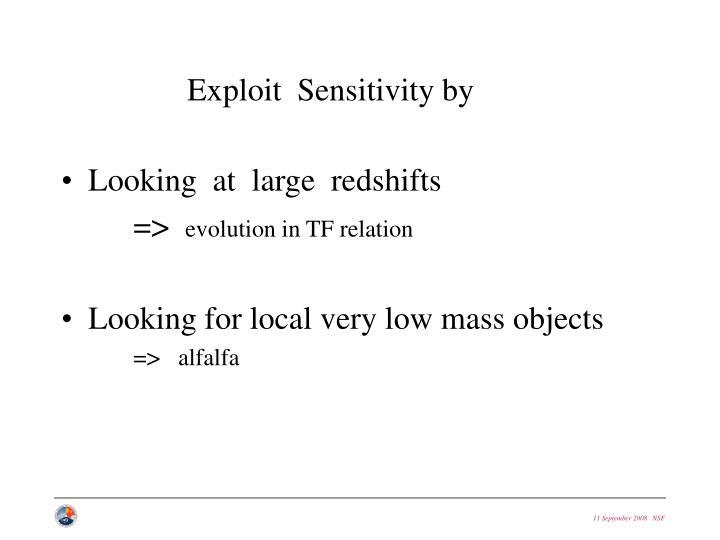 Exploit  Sensitivity by