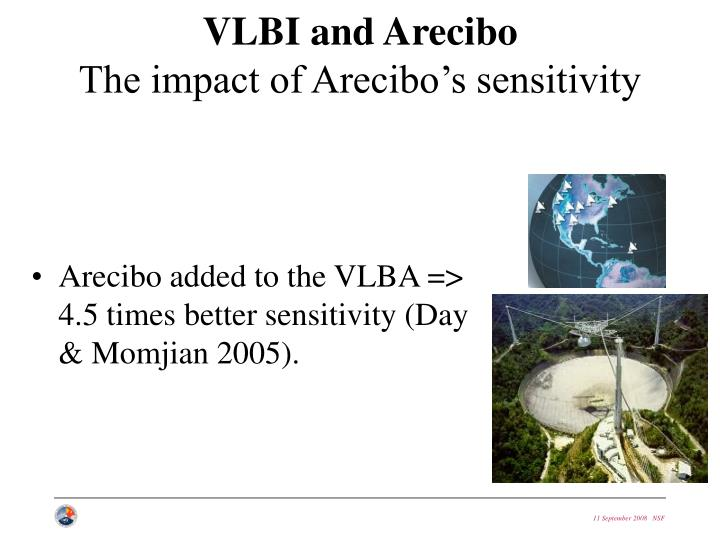 VLBI and Arecibo