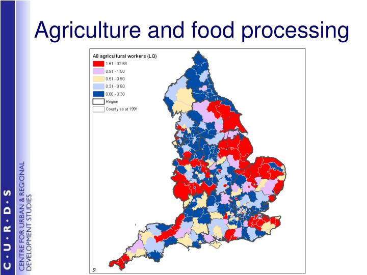 Agriculture and food processing