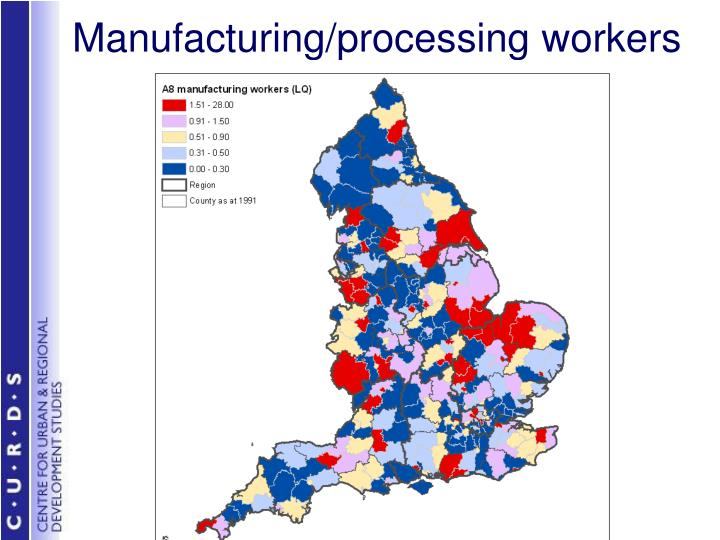 Manufacturing/processing workers