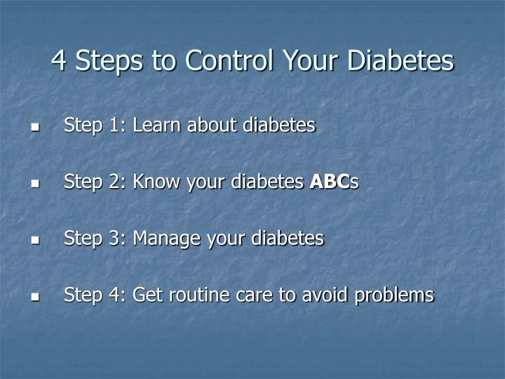 4 steps to control your diabetes