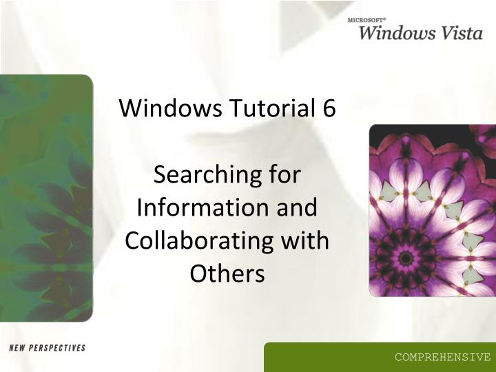 windows tutorial 6 searching for information and collaborating with others n.
