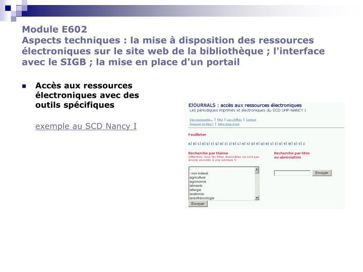 Module E602