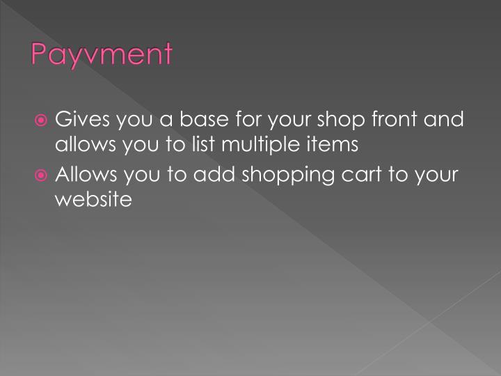 Payvment
