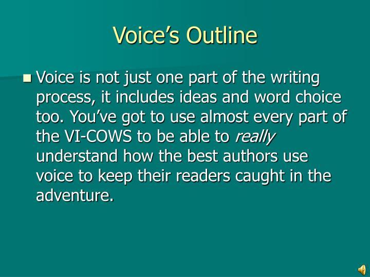 Voice's Outline