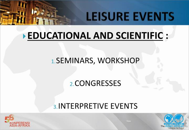 LEISURE EVENTS