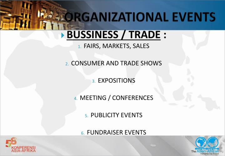 ORGANIZATIONAL EVENTS