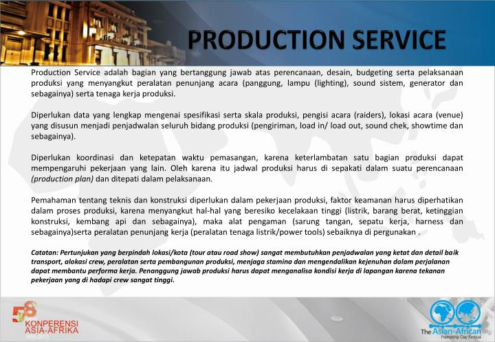 PRODUCTION SERVICE