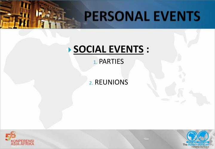 PERSONAL EVENTS