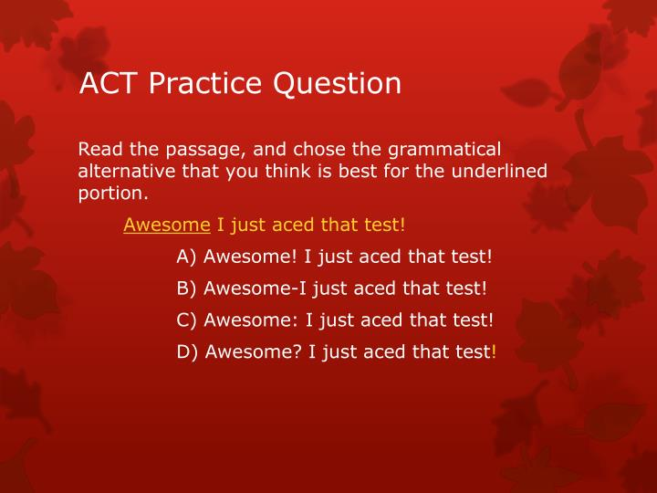 Act practice question