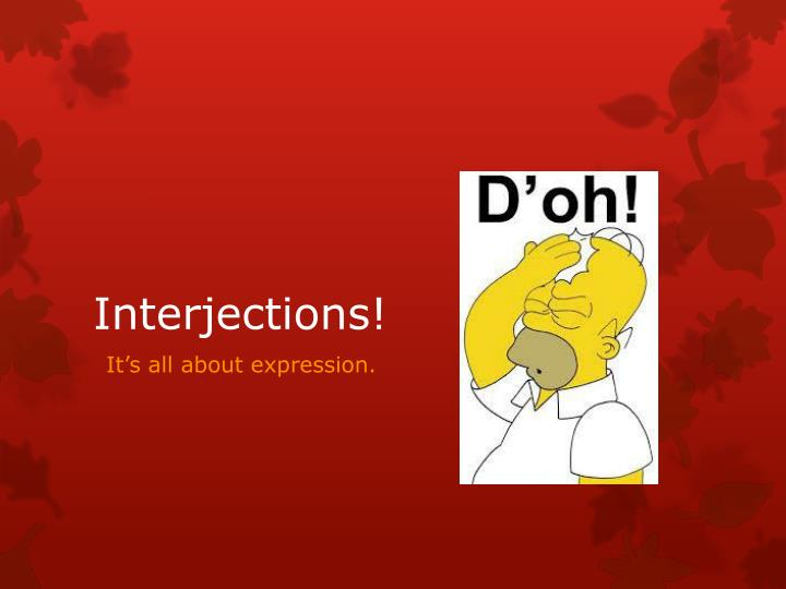 interjections n.