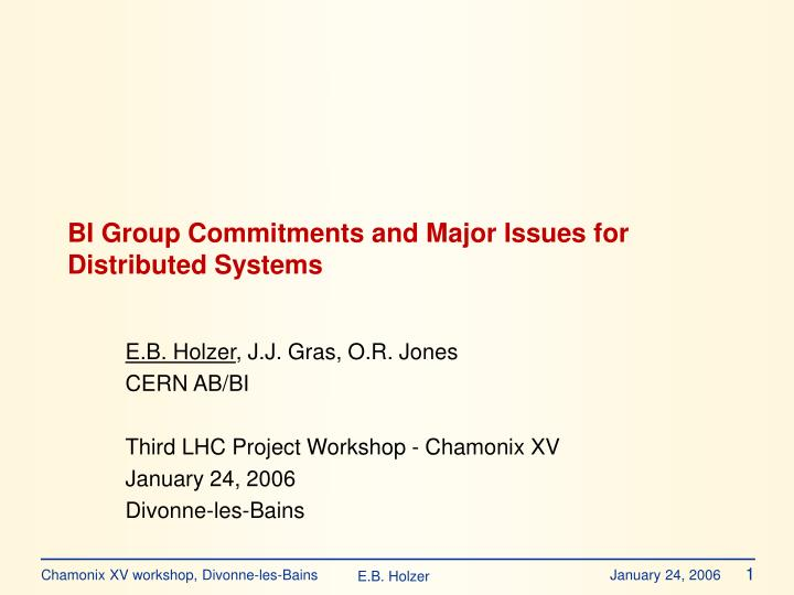 Bi group commitments and major issues for distributed systems