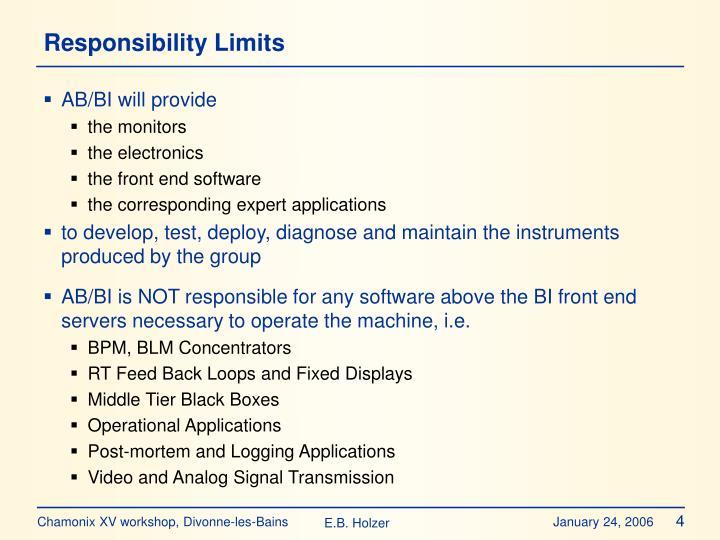 Responsibility Limits