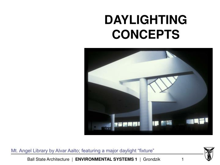 daylighting concepts n.