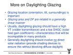 more on daylighting glazing